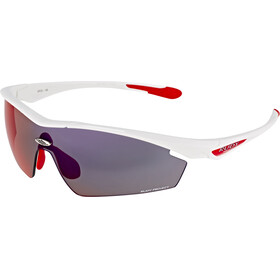 Rudy Project Spaceguard white gloss / multilaser red